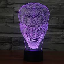 crazy lamps crazy smile design 3d led lamp