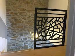 rambarde escalier design claustra bois lektra