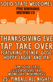 thanksgiving five boroughs tap takeover s k i