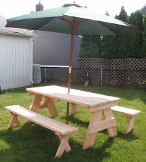 Wooden Picnic Tables With Separate Benches Our Products All American Picnic Tables