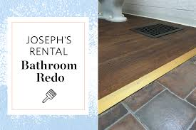 Laminate Flooring For Bathroom This Luxury Vinyl Tile Is Great For Rental Bathrooms Apartment