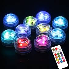 remote control battery lights amazon com acmee pack of 10 rgb 3 leds water proof floral light
