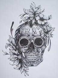 rainbow flowers skull design skull color popular