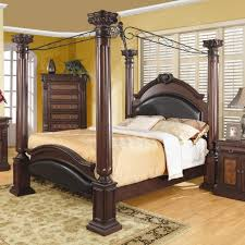 Queen Canopy Bedroom Sets Free Jessie Rustic Brown Piece Queen - Black canopy bedroom sets queen