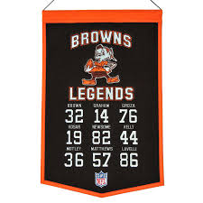 Cleveland Browns Home Decor by Cleveland Browns Legends Banner