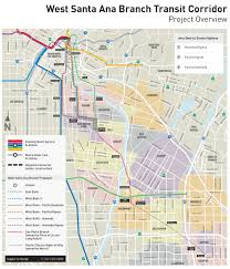 Santa Ana California Map West Santa Ana Branch Transit Corridor