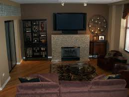brown accent wall in living room living room ideas