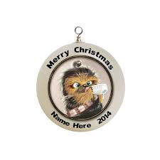 personalized wars baby chewbacca ornament custom with