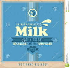 Free Home Daily Fresh Natural Milk Retro Poster Design Royalty Free Stock