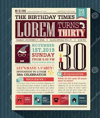5 birthday newspaper templates word pdf psd indesign format