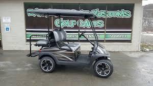 club car precedent electric with silver streak custom body golf