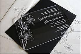 acrylic wedding invitations bestlife acrylic clear wedding invitation card with
