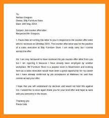 counter offer letter counter offer letter sample best business