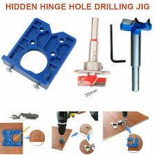 kitchen cabinet door hinge drill bit abs concealed hinge jig for kitchen cabinet doors drill bit kit tool be ebay