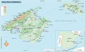 Menorca Spain Map by Rg B Format