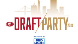 bud light gold can rules 49ers draft party presented by bud light at pier 29 in san francisco