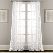 White Curtains With Yellow Flowers Curtains U0026 Drapes You U0027ll Love Wayfair