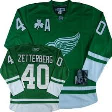 detroit red wings blank st patrick u0027s day green jersey on sale for