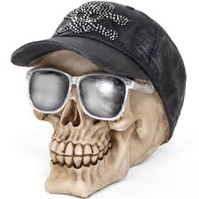 wholesale skull with cap and glasses ornament something