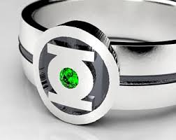 green lantern wedding ring green lantern ring etsy