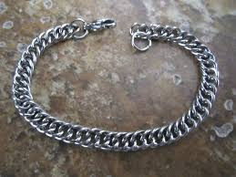 stainless steel charm bracelet chain images 7 39 39 5mm wide stainless steel double curb jpg