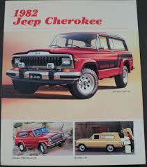 jeep 1982 jeep cherokee chief lerado amc original dealer sales brochure
