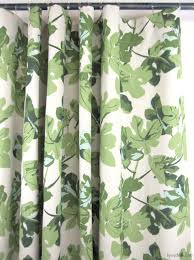 Peterdunham by Peter Dunham Fig Leaf On White Custom Drapes In Dining Room