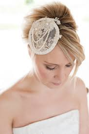lace fascinator pearl lace fascinator bridal millinery vale designs