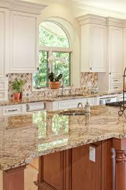 multi color kitchen ideas splendor gold granite countertop white kitchen island