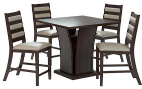 Cappuccino Dining Room Furniture Bistro 5 Piece 36