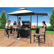 Outdoor Patio Grill Gazebo by Grill Gazebo With Awning Rc Willey Furniture Store