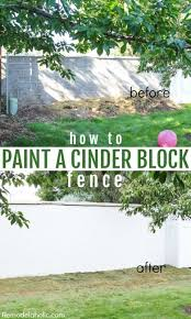 fixing andold cinder block wall fence patch and painting with