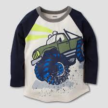 gerber graduates toddler boys u0027 monster truck long sleeve shirt