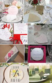 idee menu mariage idees menu mariage rond pochette horloge divers mariage