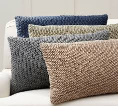 linen seed stitch lumbar pillow cover pottery barn