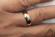 Mens 8mm White Gold Comfort Fit Wedding Band 14k Gold Mens Wedding Bands Ebay