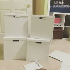 Ikea Office Storage Hand Painted Office Storage Boxes Half Mom Half Amazing