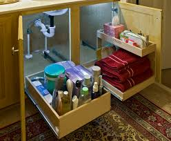 furniture bathroom cabinet organizers under the sink using pull