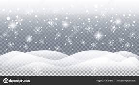 realistic falling snow snowflakes landscape vector for merry