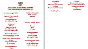 Wedding Itinerary 37 Free Beautiful Wedding Guest List U0026 Itinerary Templates U2013 Free