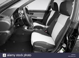 saab 9 2x 2006 saab 9 2x 2 5i in black front seats stock photo royalty