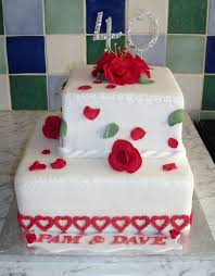 Home Decorated Cakes 82 Best Anniversary Cakes Images On Pinterest Marriage Biscuits