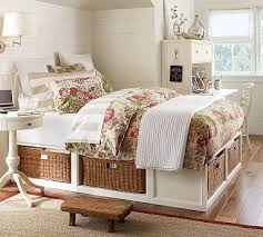 Pottery Barn Platform Bed Stratton Storage Platform Bed With Baskets Pottery Barn