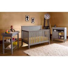 lolly u0026 me americana 4 in 1 convertible crib pebble gray walmart com