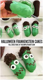 halloween frankenstein cakes to make snack time spooky