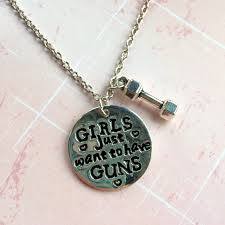 girls necklace images Girls just want to have guns necklace warriher jpg