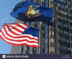 State Flags Of Usa Us Flag And New York State Flag Stock Photo Royalty Free Image