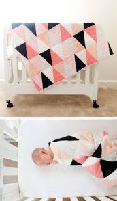 Duvet For Babies One Hour Triangle Quilt Triangles Triangle Quilt Tutorials And