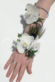 White Orchid Corsage Shop Artificial White Phalaenopsis Orchid Wedding Wired Arm