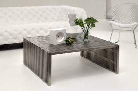 zuo modern 100084 novel square coffee table stainless steel tables